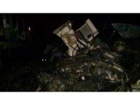 Beton mikseri yük trenine çarptı: 2 yaralı