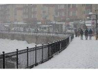 Bayburt'ta kar yağışı etkili oluyor