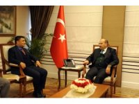 AK Parti Ortahisar ilçe başkanı Temel Altunbaş'tan Vali Ustaoğlu'na ziyaret