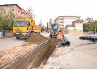 Bilecik Belediyesi'nden yağmur suyu hatları ve kaldırım çalışmaları
