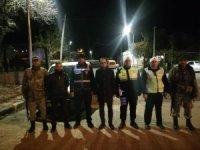 Mustafa Atalay polislerle bir arada