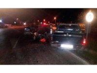 Erdek'te iki araç çarpıştı: 2 yaralı