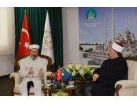 Diyanet İşleri Başkanı Erbaş, Kosova İslam Birliği Başkanı Terneva ile görüştü