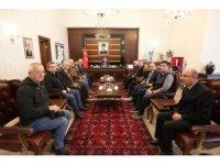 Gazetecilerden Vali Nayir'e 'Hoş geldiniz' ziyareti