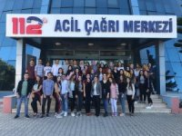 Öğrenciler çağrı merkezini ziyaret etti