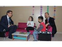 Burunkaya Şehit Emrah Kartal İlkokulun'da kütüphane açılışı yapıldı