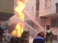 Bağcılar'da altyapı çalışmaları sırasında doğalgaz borusu patladı
