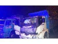 Bir kişinin öldüğü kamyon yangını cep telefonuna böyle yansıdı