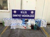 Kilis'te 13 bin 670 paket kaçak sigara ele geçirildi