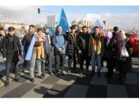 Doğu Türkistan'daki zulme karşı yürüdüler