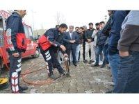 Sultan Alparslan Doğa Bilimleri ve Mühendislik Fakültesi'nde yangın tatbikatı