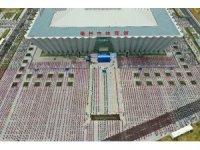 Çin'de 500 bin kişi aynı anda Kungfu Yoga yaptı
