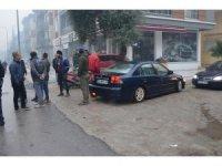 Milas'ta otomobille motosiklet çarpıştı; 1 yaralı