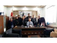 Şehit ve Gazi Aileleri Derneği'nden İlçe Emniyet Müdürü Hakkı Güner'e başsağlığı ziyareti