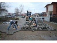 Yeni Mahalle'de parke çalışmalar hızlandı