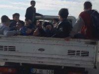 Öğrencilerin dondurucu havada kamyonet kasasında tehlikeli yolculuğu