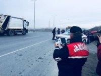 Jandarma'dan kamyon ve tırlara yönelik uygulama