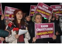 Ankara'da kadın cinayeti protesto edildi
