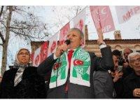 MHP adayı Sarı'ya Amasyalılardan coşkulu karşılama