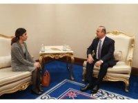 Bakan Çavuşoğlu, Nobel Ödüllü Nadia Murad'ı kabul etti