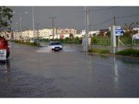 Didim'de şiddetli yağış yaşamı felç etti