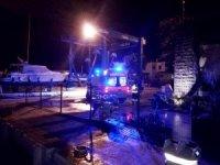 Rahatsızlanan gemi aşçısı deniz ambulansı ile karaya tahliye edildi
