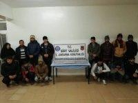 Siirt'te 14 kaçak göçmen yakalandı