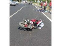 Direğe çarpan motosiklet sürücüsü hayatını kaybetti