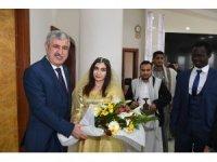 Göçmen öğrencilerden Başkan Polat'a ziyaret