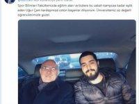 Rektör makam aracıyla öğrencisini evinden alıp okula götürdü