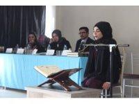 Silopi'de öğrenciler Kur'an'ı güzel okumak için yarıştı