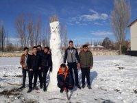 Çayıralan'da en güzel kardan adam yarışması