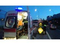 Haliç Köprüsünde motosiklet ile servis minibüsü çarpıştı: 1 yaralı
