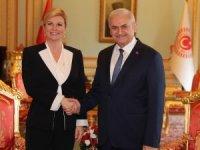 Hırvatistan Cumhurbaşkanı Kitaroviç TBMM'yi ziyaret etti