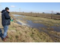 Su basan mahalleler dezenfekte ediliyor