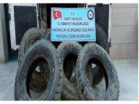 Siirt'te 19 kaçak lastik ele geçirildi