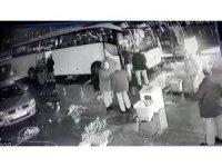 Kaza yapan otobüsün son molası kamerada