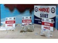 Siirt'te bir araçta uyuşturucu madde ele geçirildi