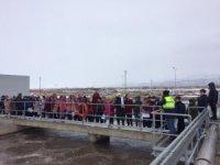 Öğrenciler katı atık ve su arıtma tesisini gezdi