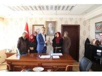 Emet Kadın Girişimciler Kooperatifi  üyeleri Kaymakam Çiçek'i ziyaret etti