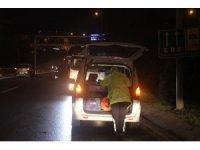Üsküdar'da otomobil bariyerlere çarptı; 1 yaralı