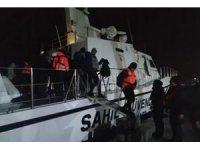 Saros Körfezi'nde yardım çağrısında bulunan 41 kaçak göçmen kurtarıldı
