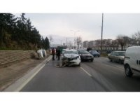 Gaziantep'te maddi hasarlı kaza