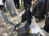 İslahiye 'de otomobil motosiklete çarptı: 1 yaralı