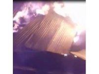 Samanlık yangınında 4 büyükbaş hayvan telef oldu