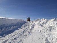 Sivas'ta 2 metrelik karla yoğun mücadele