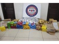 Mersin'de yarım ton kaçak nargile tütünü ele geçirildi