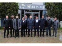 Başkan adayı Özlü, Realkom'da işçilerle bir araya geldi