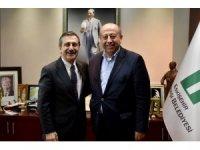 Usta Gazeteci Sarıkaya Başkan Ataç'ı ziyaret etti