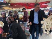 Vezirhan'da 'Plastik Poşete Hayır' kampanyasına destek